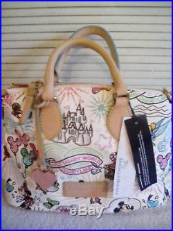 New Dooney & Bourke Walt Disney World Disneyland Sketch Handbag