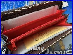 New Dooney & Bourke Walt Disney World Grand Floridian Brown Leather Wallet