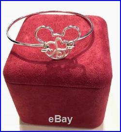 New In Box Walt Disney World Rebecca Hook Mickey Mouse Scroll Bangle Bracelet