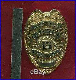 Obsolete Walt Disney World Security Officer Badge Not Issued Collectible Rare