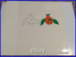 Orange Bird Production Drawing And Matching Cel Walt Disney World Florida Cotrus