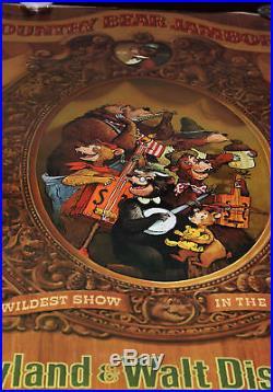 Orig Attraction Poster Country Bear Jamboree Disneyland Walt Disney World 1972