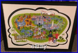 Original Disney Parks Walt Disney World 50th Map Signed SHAG 275/300 Limited