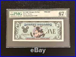 RARE1987 $1 D series Disney Dollar PROOF Walt Disney World PMG 67EPQ TOP POP 1/0