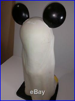 RARE Big Fig Mickey Mouse Ghost with Base Walt Disney World Halloween AS IS
