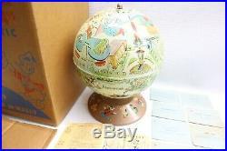 RARE Vintage Walt Disney Rand McNally Disneyland Globe A World in Itself & Box