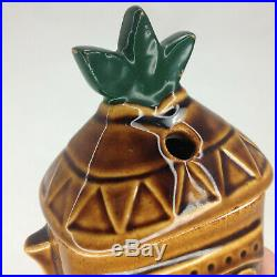 RARE Vintage Walt Disney World Polynesian Resort Tiki Hawaiian Mug Cup with Lid