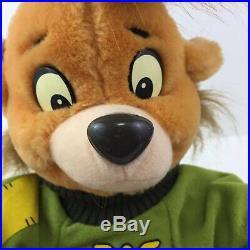 RARE Walt Disney World TALESPIN KIT CLOUDKICKER Bear Plush 10 Stuffed 90s VTG