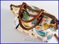 Rare Disney Dooney & Bourke Walt Disney World Retro Satchel Purse Bag Crossbody
