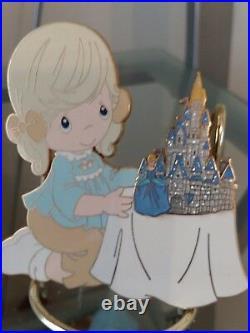 Rare Jumbo Disney/ Precious Moments Pin A World of my own Signed. LE500