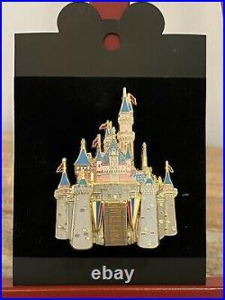 Rare Set of 4 New Cast Member 2003 Jumbo Disney Castles Pin WDW, DLR Paris Hong