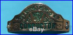 Rare Walt Disney World Cast Member Railroad Train Conductor Hat Badge Wdw Pin