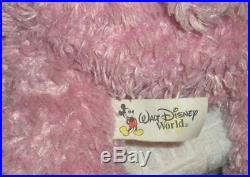 Rare Walt Disney World HIDDEN MICKEY PRE DUFFY PINK 17 Plush BEAR