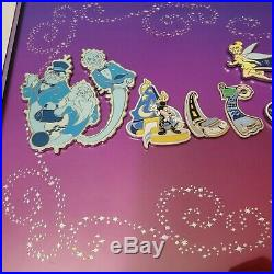 Rare Walt Disney World Letters Framed 15 Pin Set by Adrianne Draud with COA