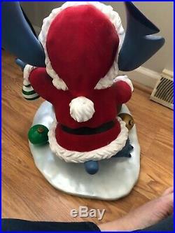 Rare Walt Disney World Limited Edition 300 Christmas Santa Stitch Big Fig In Box