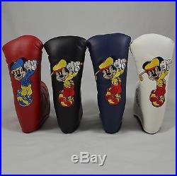 SCOTTY CAMERON Head Cover Walt Disney World Mickey Mouse Putter HeadCover New