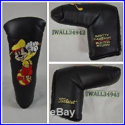 SCOTTY CAMERON Walt Disney World Mickey Mouse Putter HeadCover Head Cover New