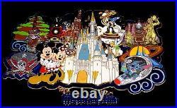 SUPER JUMBO LE Disney Pin Splash Mountain Mickey Haunted Mansion Pirates Train++