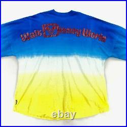 Snow White Disney Parks Walt Disney World Spirit Jersey Tie Dye Blue XL