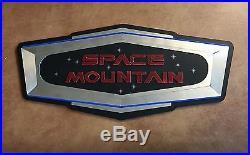 Space Mountain Walt Disney World Park Ride Sign Rare Scarce