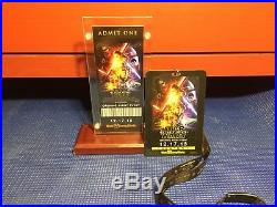 Star Wars The Force Awakens Walt Disney World Opening Night Ticket & Lanyard NEW