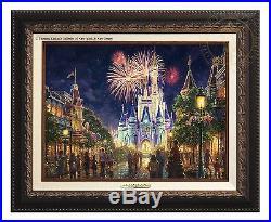 Thomas Kinkade Main Street, U. S. A. Walt Disney World Classic (Bronze Frame)