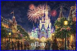 Thomas Kinkade Main Street, U. S. A. Walt Disney World Classic (Espresso Frame)