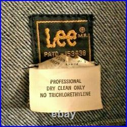VERY RARE 1986 Lee Riders Walt Disney Imagineering Jean Denim Jacket Made in USA