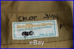 VINTAGE Walt Disney World SAFARI jacket EPCOT CENTER cast member COSTUME PROP