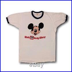Vintage 1950's Walt Disney World Mickey Mouse Tropix Togs Ringer Tee T-Shirt