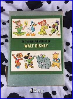 Vintage 1960s Disney Book Set The Wonderful Worlds of Disney Rare Mickey Walt