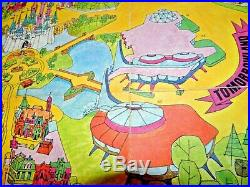Vintage 1971 Walt Disney World Guide to the Magic Kingdom Map Poster