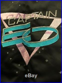 Vintage 1980s Walt Disney World CAPTAIN EO Michael Jackson Satin Jacket XL