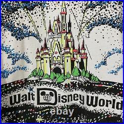 Vintage 80s 90s Walt Disney World All Over Print Fireworks T Shirt AOP OSFM