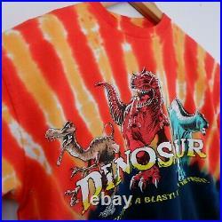 Vintage DINOSAUR Disney World Animal Kingdom T-shirt M Tie Die MINT A17-06