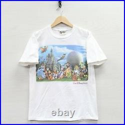 Vintage Magic Kingdom Epcot MGM Walt Disney World T-Shirt Small Double Sided