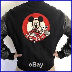 Vintage Mickey Mouse Club Varsity Jacket Walt Disney World MENS Size Medium