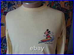 Vintage Mickey Mouse Walt Disney World Tropix Long Sleeve Surf T Shirt M