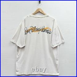 Vintage Tigger Walt Disney World T-Shirt Size XL Beige 90s Pooh Big Face