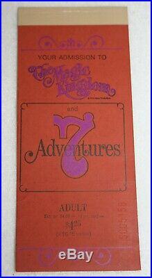 Vintage WALT DISNEY WORLD 1971 Theme Park Ticket Book #S5158 MAGIC KINGDOM RARE