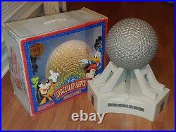 Vintage WALT DISNEY WORLD EPCOT SPACESHIP EARTH MONORAIL PLAYSET withBOX