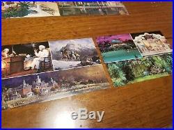 Vintage Walt Disney World Epcot Center Pre Opening Concept Postcard Lot of 17