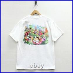 Vintage Walt Disney World Magic Kingdom T-Shirt Size Medium White Double Sided