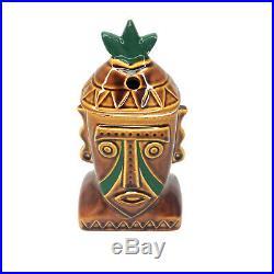Vintage Walt Disney World Polynesian Resort Tiki Hawaiian Ceramic Mug Cup with Lid