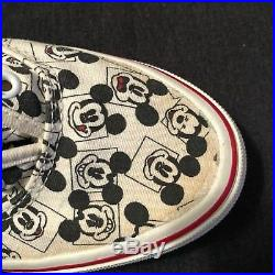 Vintage Walt Disney World Vans Mickey Mouse 7 Made In USA Sneakers Shoes