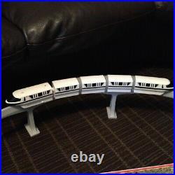 Vintage Working Talking Walt Disney World Parks Black Monorail Track Play Set +