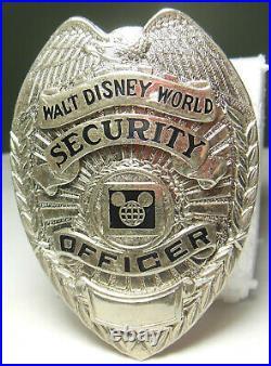 Vtg. OBSOLETE Replica Walt Disney World Police Officer Cast Uniform Badge