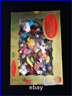 Vtg Walt Disney It's A Small World Festive Lite Set Kurt S. Adler Santa's World