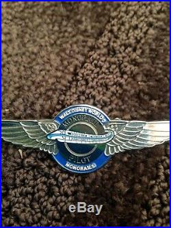WALT DISNEY WORLD Monorail Pilot Wings Cast Member Costume Disney Pin