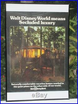 WALT DISNEY WORLD park VINTAGE 1976 POSTER GOLF COURSE VILLAS ORIGINAL AD ROLLED